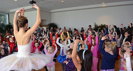 Dance with the Sugar Plum Fairy creative movement and story-time session at Phipps Conservatory.