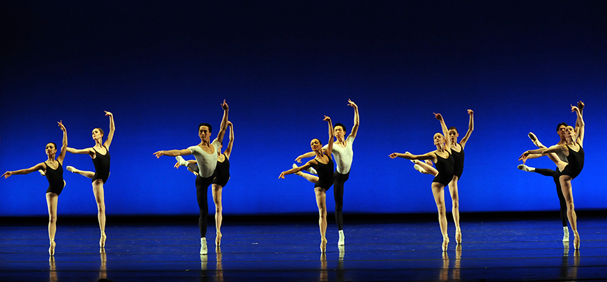 PBT in George Balanchine's Agon. Photo by Rich Sofranko