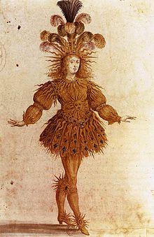 King Louis XIV in Ballet de la nuit, 1653. Source: Wikipedia