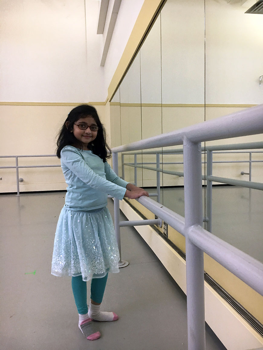 Aditi Kumar takes class at Pittsburgh Ballet Theatre as part of the Adaptive Dance Program, a class series of students with special needs.