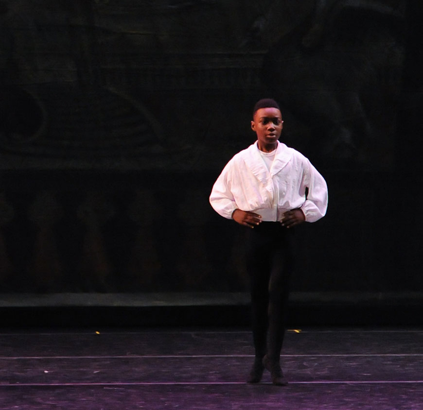 Adon Quinerly, a scholarship student at Pittsburgh Ballet Theatre School