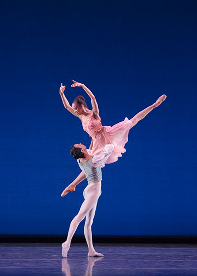 "Chyrstyn Fentroy and Francis Lawrence in ""Tchaikovsky Pas de Deux""Photo by: Renata Pavam"