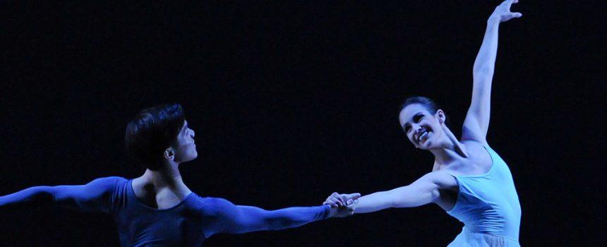 "Pittsburgh Ballet Theatre dancer Daniela Moya in ""Serenade."" Choreography by George Balanchine. © The George Balanchine Trust"
