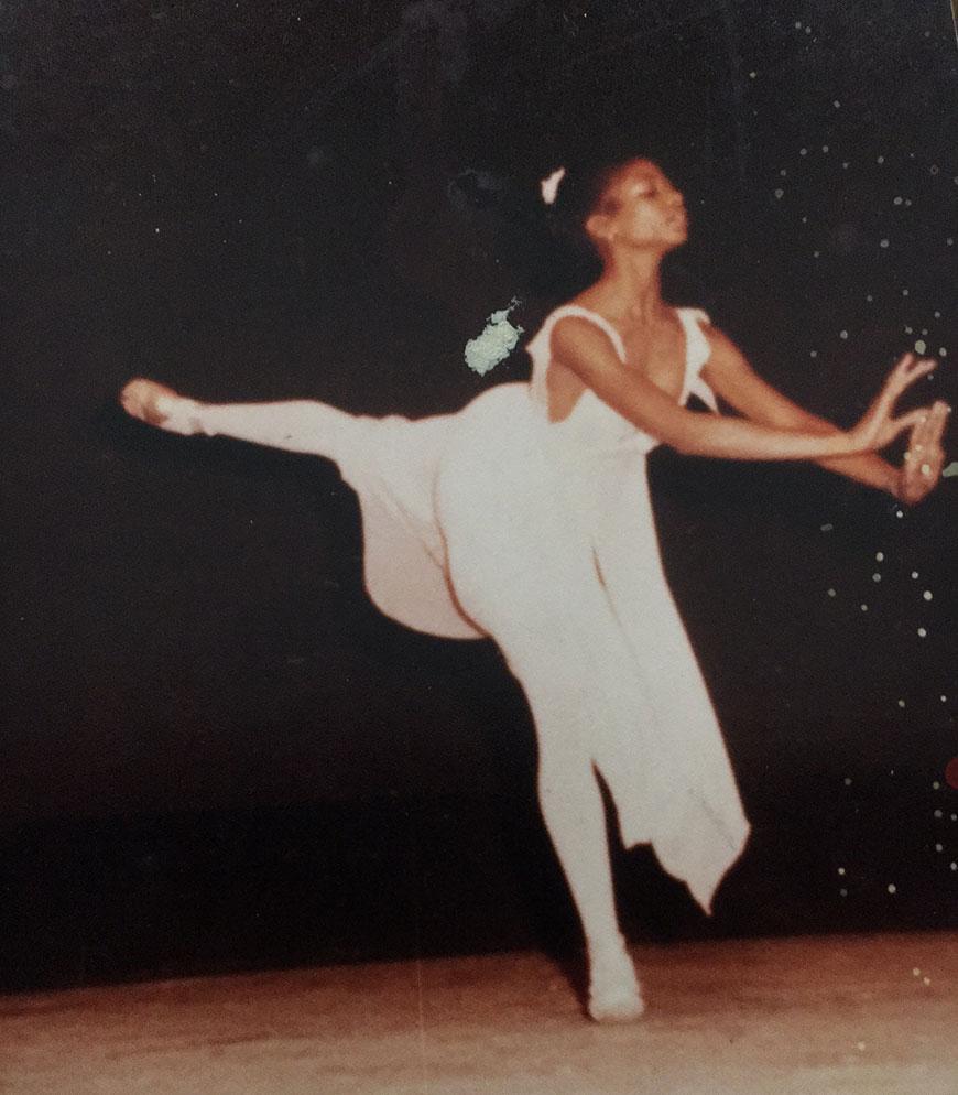 Leslie Anderson-Braswell dancing in her early teens