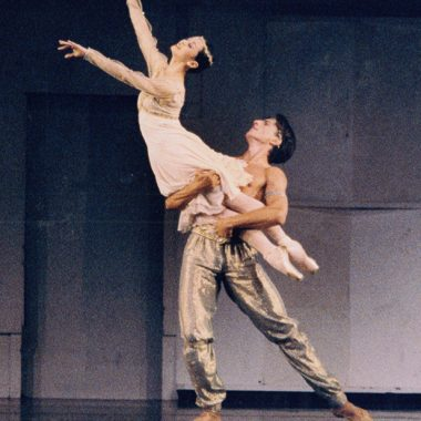 1998 - Ying Li and Stanko Milov; Le Corsaire Pas de Deux; photo by Randy Choura