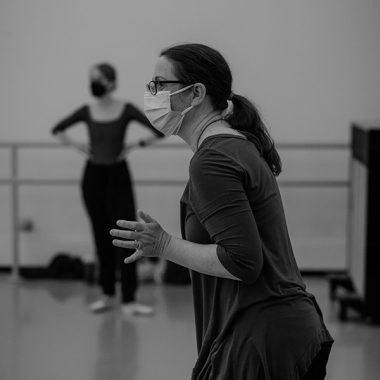 Gina Patterson working the PBT company dancers on a new solo for Open Air.